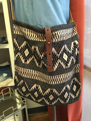 Gold Shimmer Aztec Crossbody