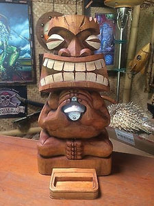 NEW Tiki Bottle Opener bar not mug Hawaii Smokin Tikis