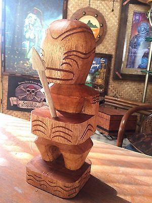 NEW Marquesan Fisherman God Tiki w Spear 1' Tall bar not a mug Smokin Tikis