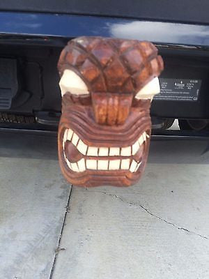 NEW Traditional Hawaiian KU Trailer Hitch receiver insert Hawaii Smokin Tikis