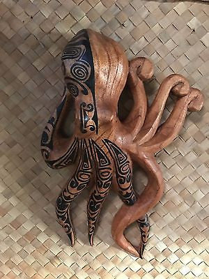 New Wall Hanging Tatooed Octopus Smokin' Tikis Hawaii 1225fx