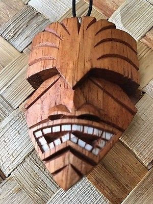 "New 3"" Swampy Tiki Christmas Ornament / Pendant Wood Hawaii"