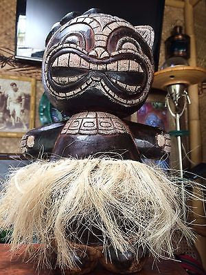 NEW Hula Tiki Bobblehead hand carved bar decor Smokin Tikis Hawaii