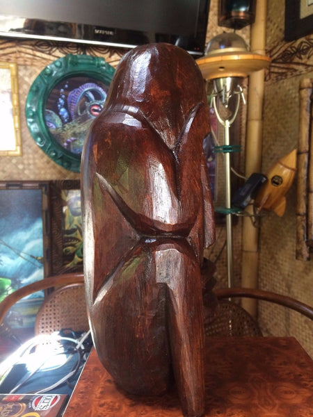 NEW Wooden Suffering Bast$#% style Tiki  1' Tall bar not a mug Smokin Tikis 120