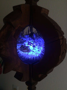 NEW Witco style lamp with Puffer Fish Tiki bar Smokin Tikis Hawaii o12