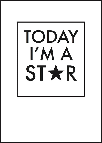 Today I'm a star!