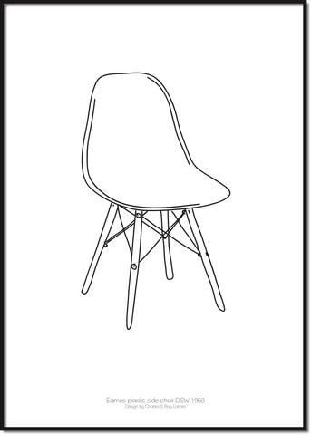 Eames plastic side chair DWS