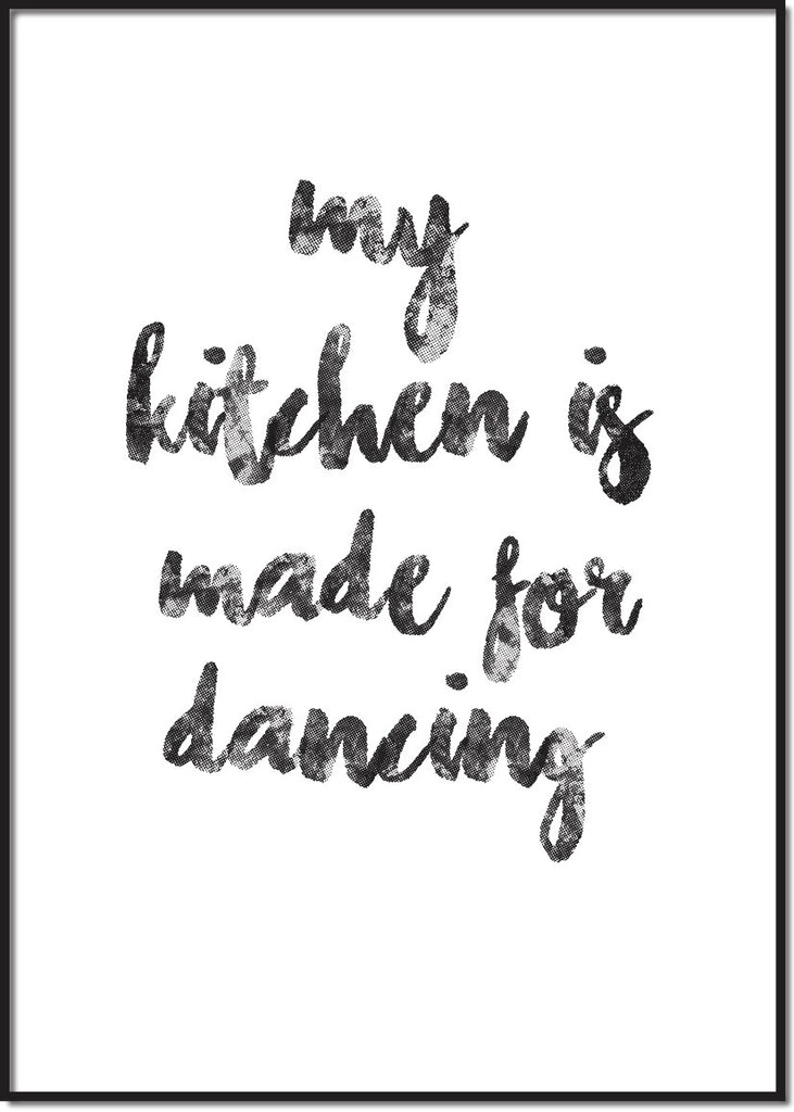 My kitchen is made for dancing