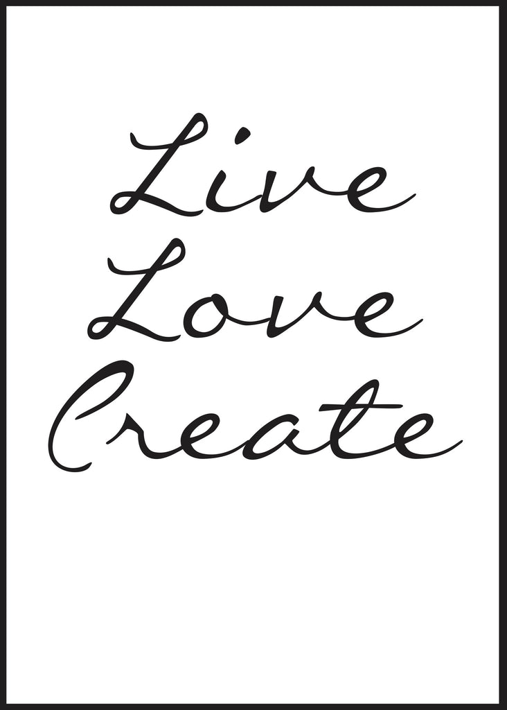Poster Live love create