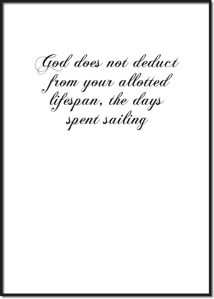 God does not deduct ...