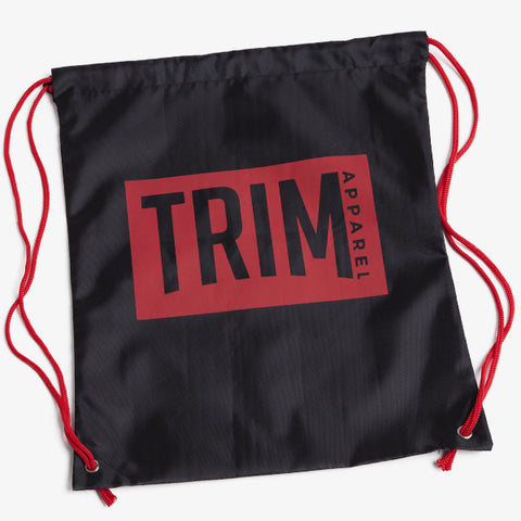 ICON DRAWSTRING BAG - BLACK - TRIM APPAREL