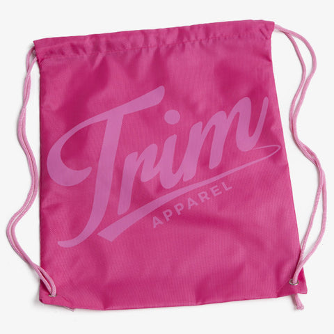 ICON DRAWSTRING BAG - PINK - TRIM APPAREL