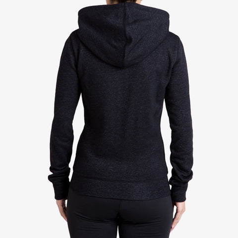 PRO-FIT FULL ZIP HOODY - BLACK MARLE - TRIM APPAREL