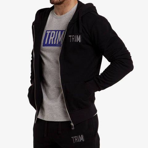 PRO-FIT FULL ZIP HOODY - BLACK - TRIM APPAREL