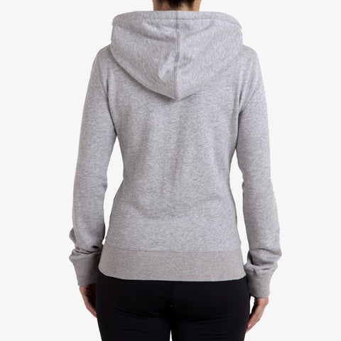 PRO-FIT FULL ZIP HOODY - GREY MARLE - TRIM APPAREL