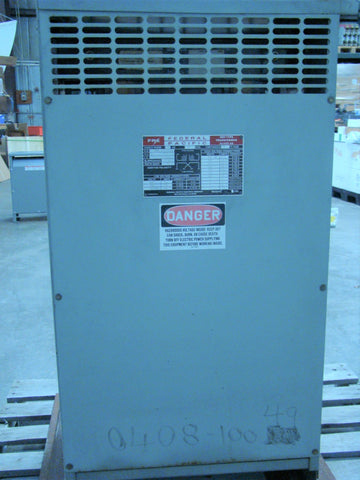 Federal Pacific Dry-Type Transformer, 50 kVA, 480/240/120V, Class AA, New