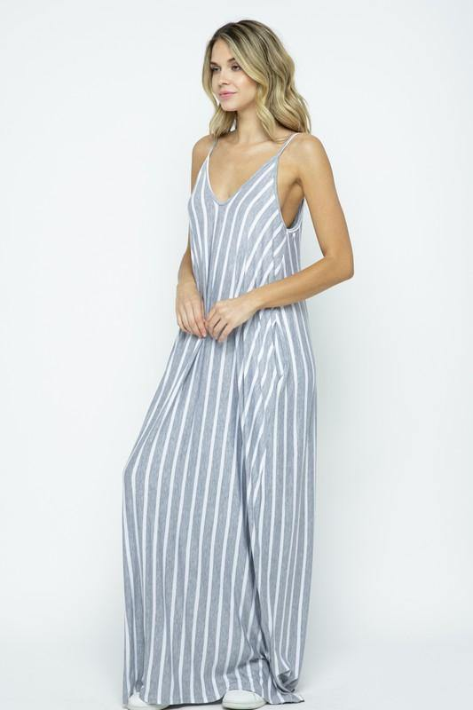 Just One of Those Days Maxi Dress in Grey