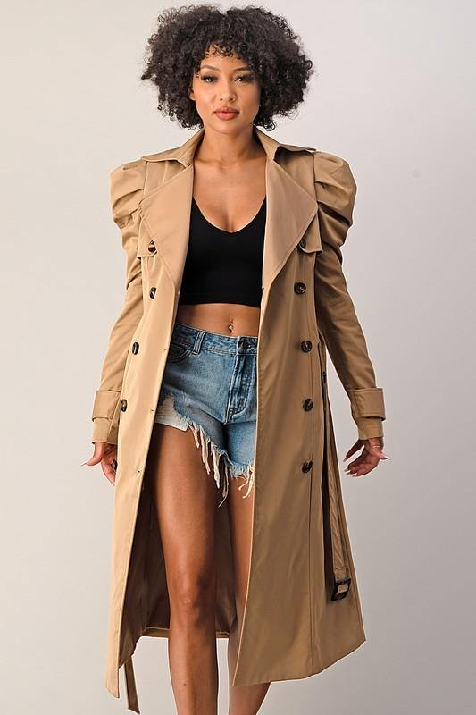 Double Breasted Trech Coat