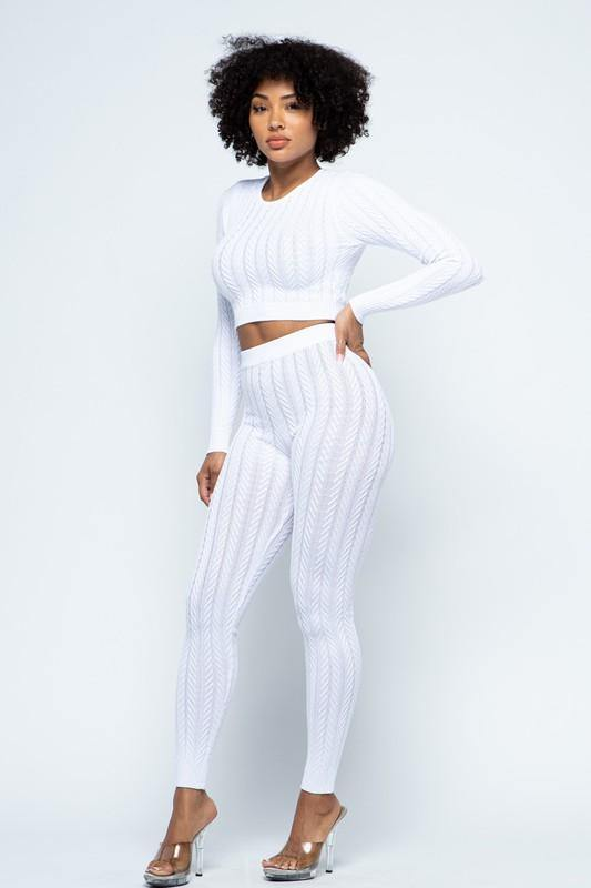 Kiara Lounge Set in Off white
