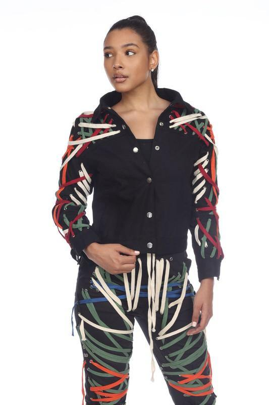 Raya Jacket with Multi-Colored Detailing