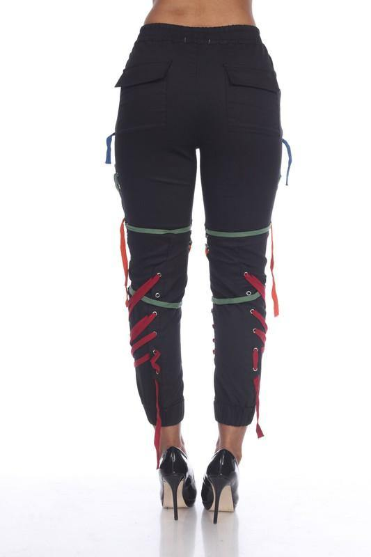 Raya Joggers with Multi-Colored Detailing