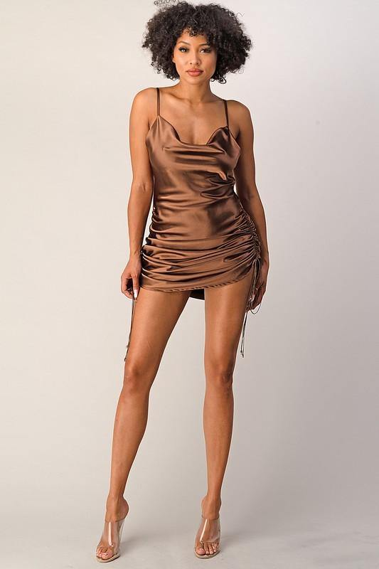 Chocolate Satin Dress