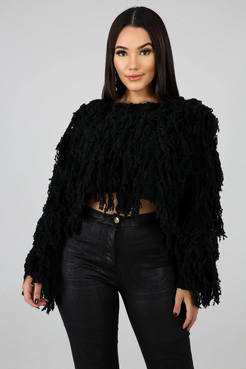 Shaggy Cropped Sweater