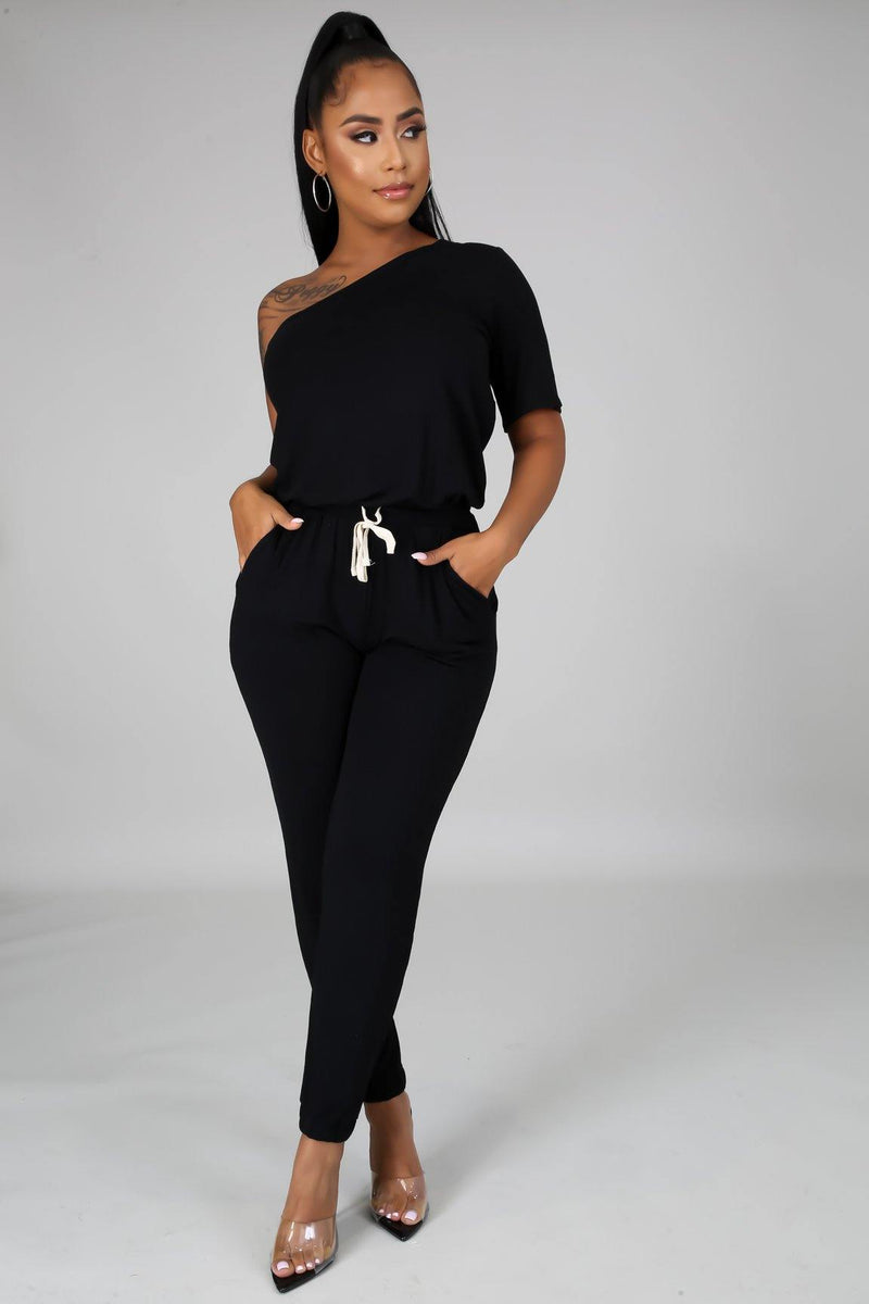 Lashae One Shoulder Jumpsuit