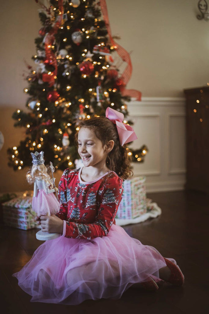 Nutcracker & Pink Long Sleeve Tutu Dress