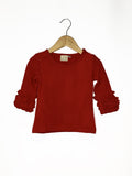 Red Icing Long Sleeve Top