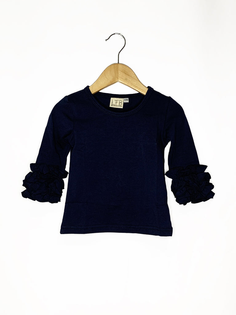 Navy Icing Long Sleeve Top