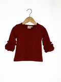 Cranberry Icing Long Sleeve Top