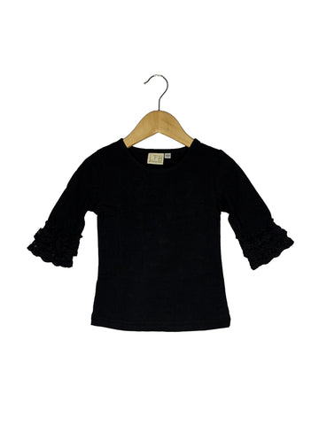 Black Lace Bell 3/4 Sleeve Top