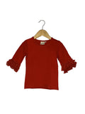 Red Lace Bell 3/4 Sleeve Top