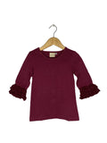 Plum Lace Bell 3/4 Sleeve Top