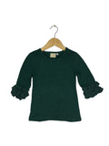 Emerald Lace Bell 3/4 Sleeve Top