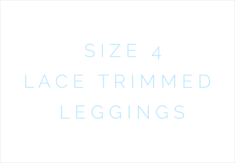 Size 4 Solid Lace Trimmed Leggings