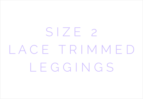 Size 2 Solid Lace Trimmed Leggings