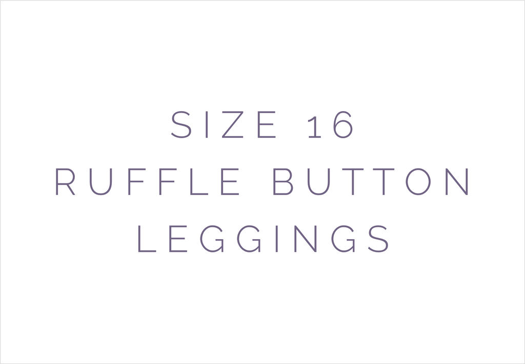 Size 16 Solid Ruffle Button Leggings