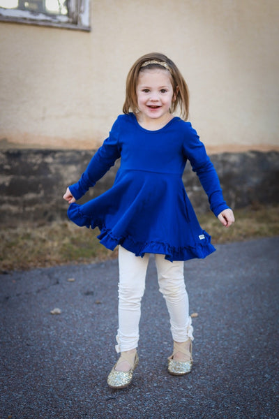 Dark Blue Long Sleeve Emmy Tunic