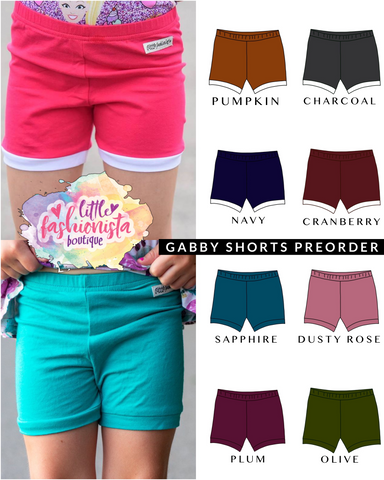 Fall Gabby Shorts **IN PRODUCTION**