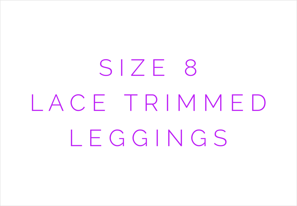 Size 8 Solid Lace Trimmed Leggings