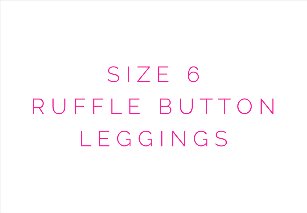 Size 6 Solid Ruffle Button Leggings