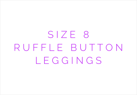 Size 8 Solid Ruffle Button Leggings