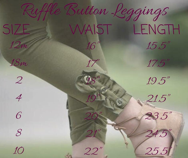 Button Leggings - icings, ruffles, truffles, ruffle leggings, icings leggings, ruffle tops, icing tops, icing shirts, ruffle dresses