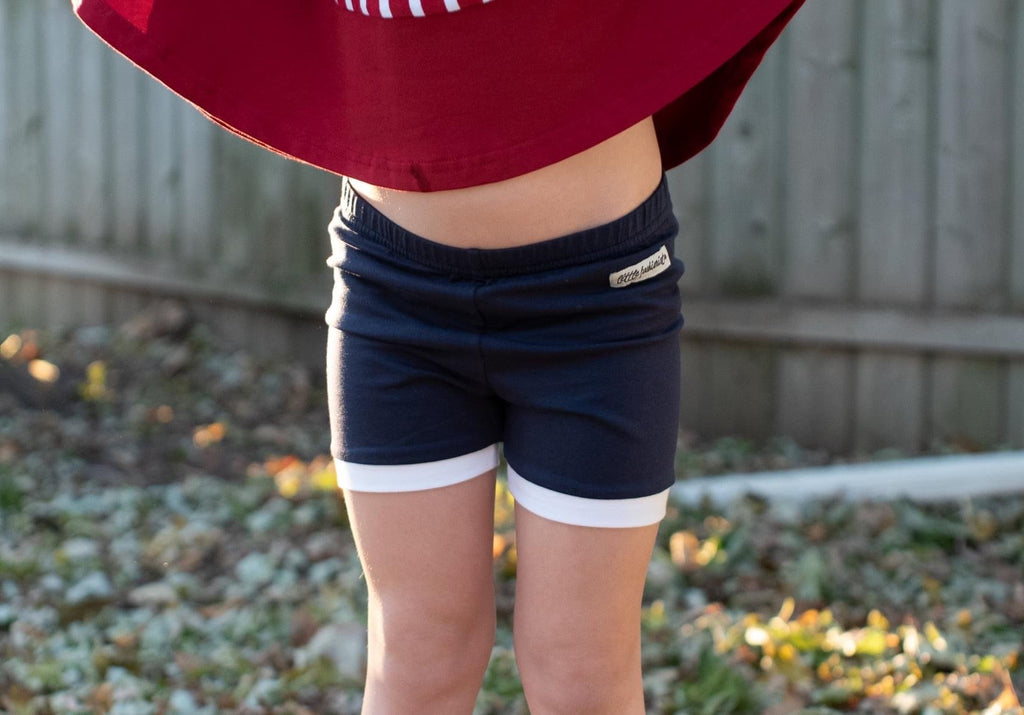 Navy White Trimmed Gabby Shorts