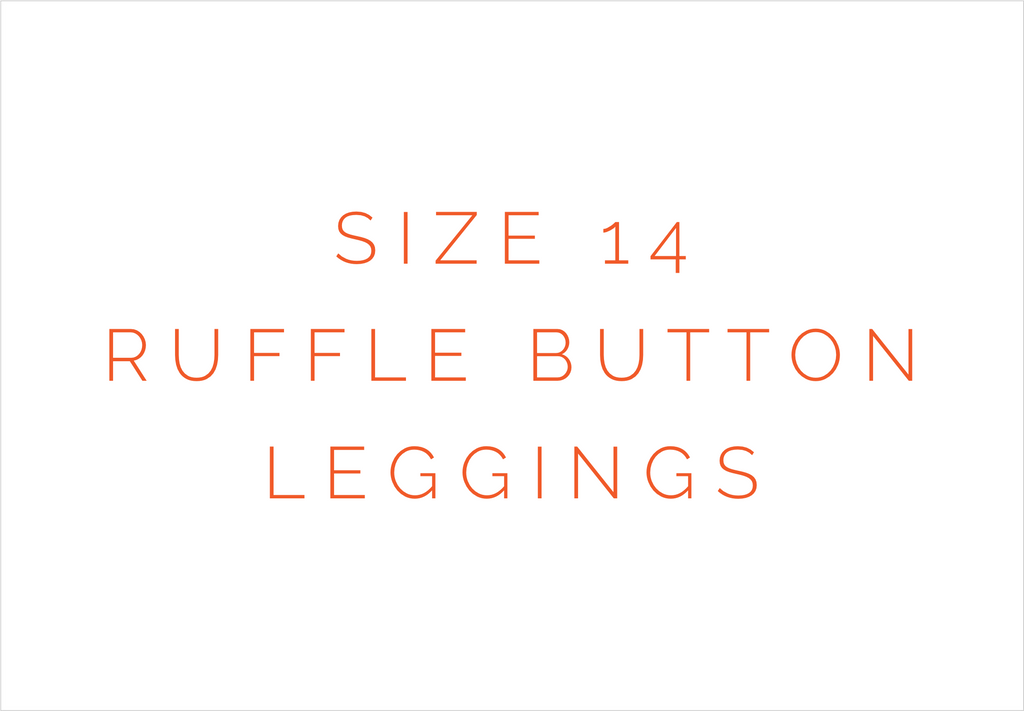 Size 14 Solid Ruffle Button Leggings