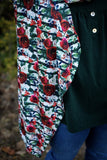 Womens Winter Floral Cardigan