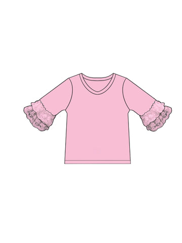 Lace Bell 3/4 Sleeve Top **IN PRODUCTION**