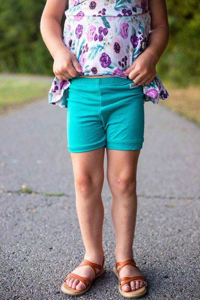 Teal Gabby Shorts